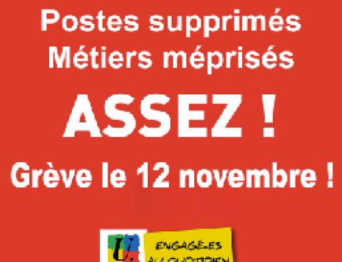 Tous en grève le 12 novembre